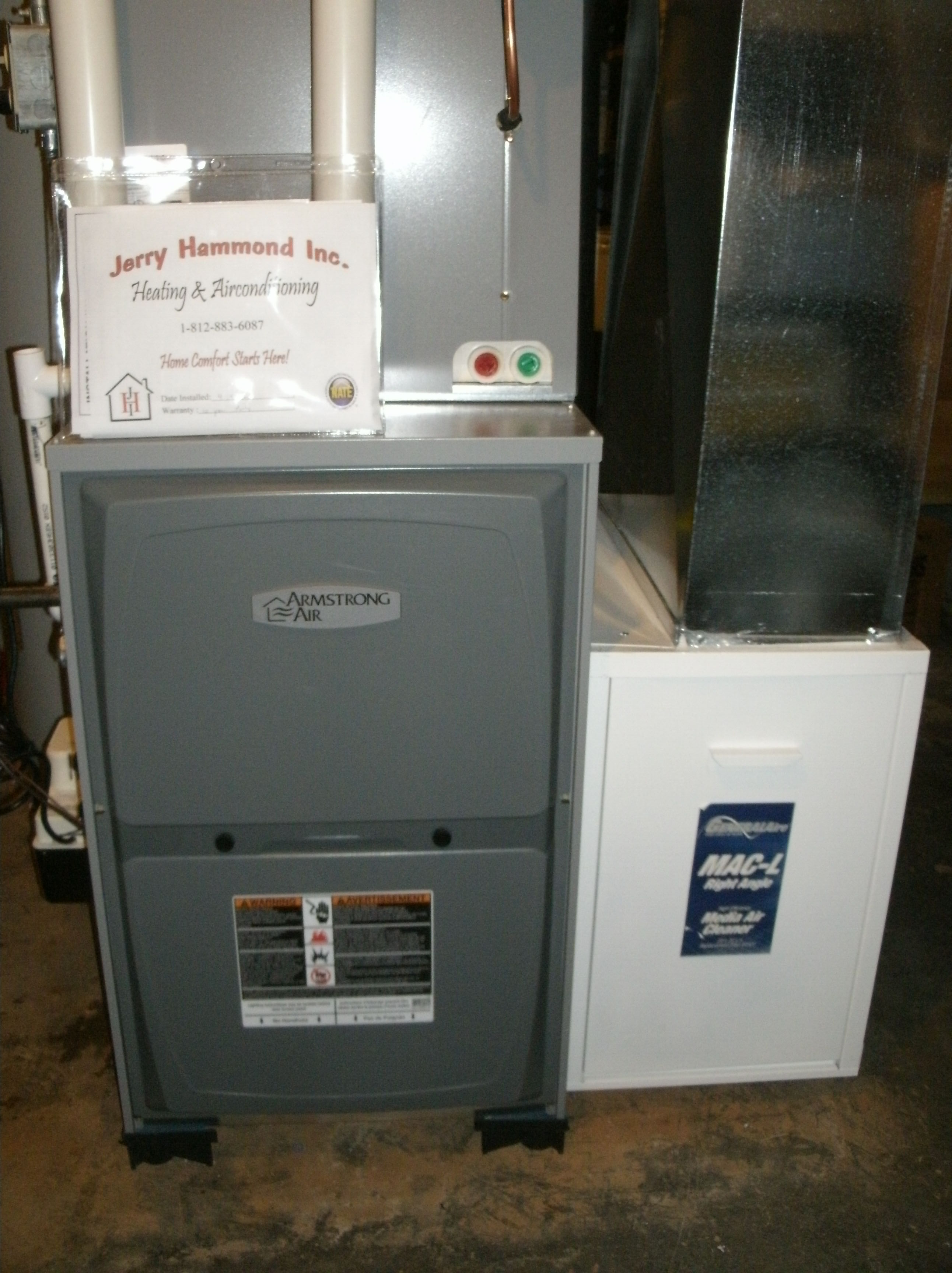 95% Armstrong Air Gas Furnace